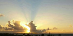 Anguilla sunrise from my balcony