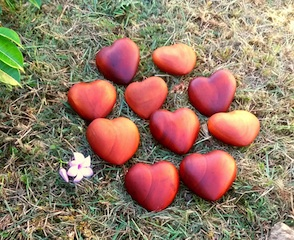 carved hearts