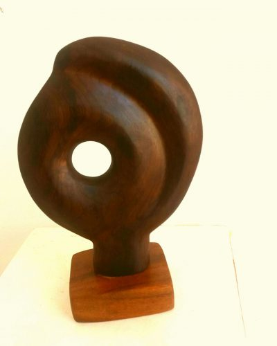 wood sculpture by Courtney Devonish